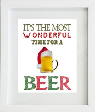 It's the Most Wonderful Time for a Beer Christmas Print